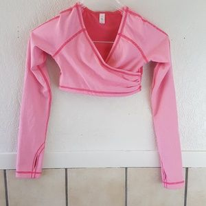 Ivivva Girls long sleeve crop top Size 10 GUC